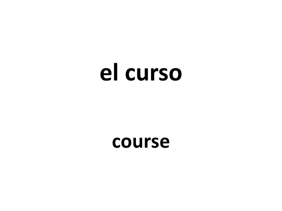 el curso course