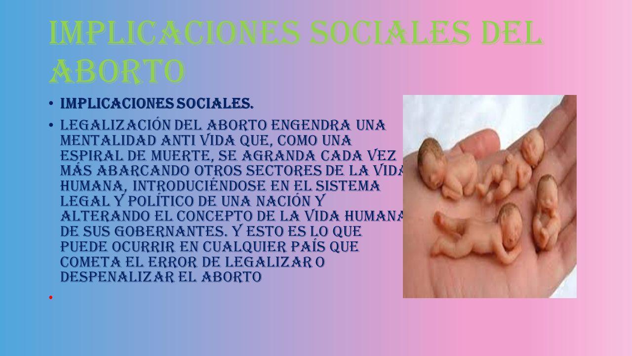 Implicaciones sociales del aborto