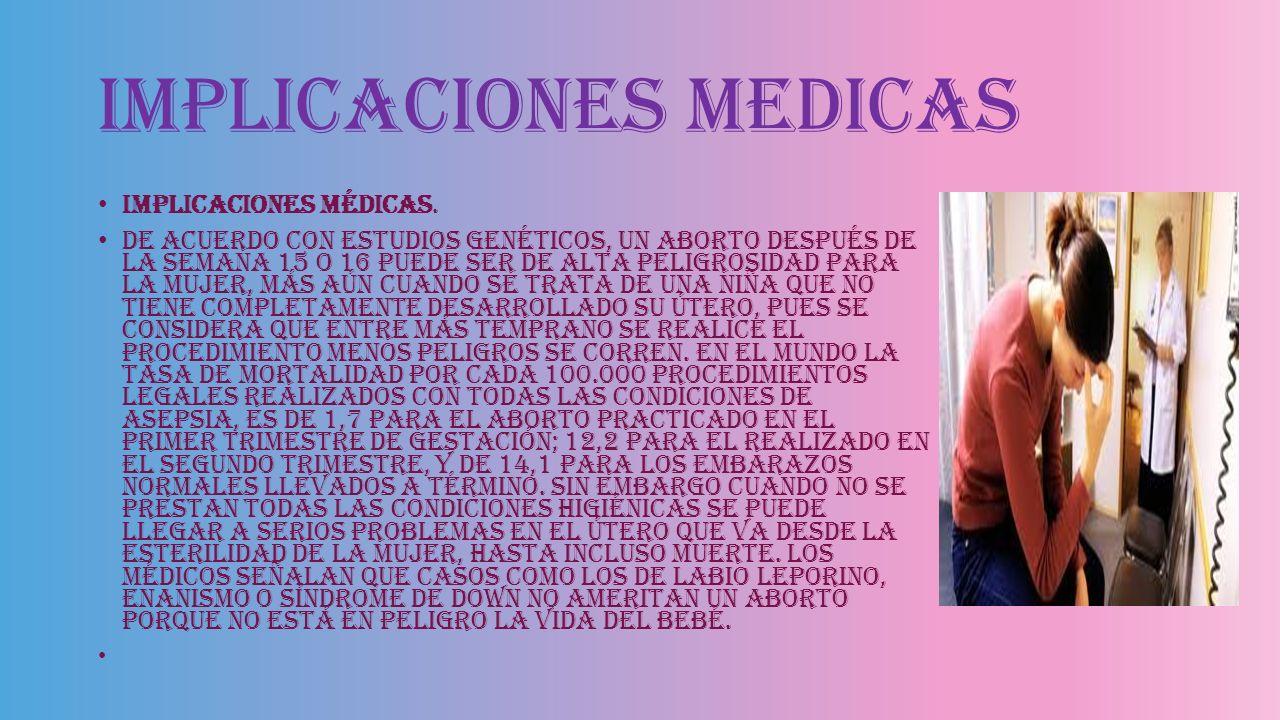 Implicaciones medicas