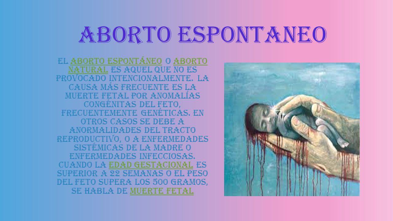 Aborto espontaneo