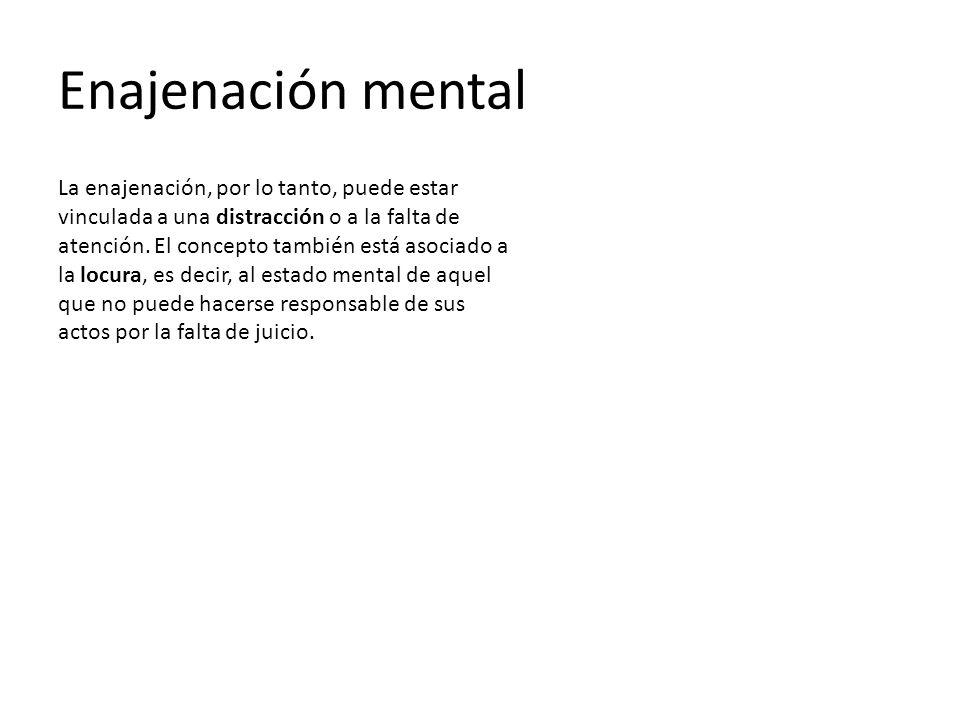 Enajenación mental