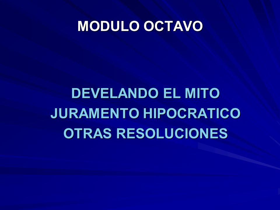 DEVELANDO EL MITO JURAMENTO HIPOCRATICO OTRAS RESOLUCIONES