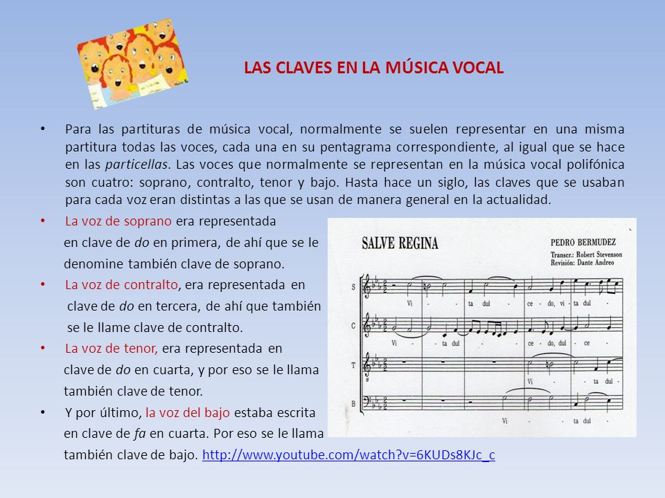 LAS CLAVES EN LA MÚSICA VOCAL