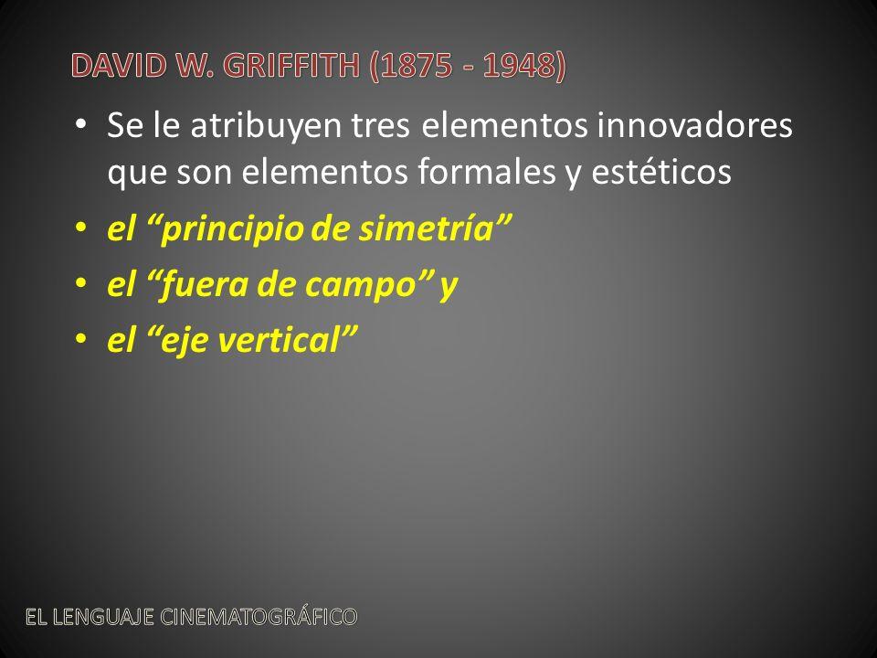 el principio de simetría el fuera de campo y el eje vertical