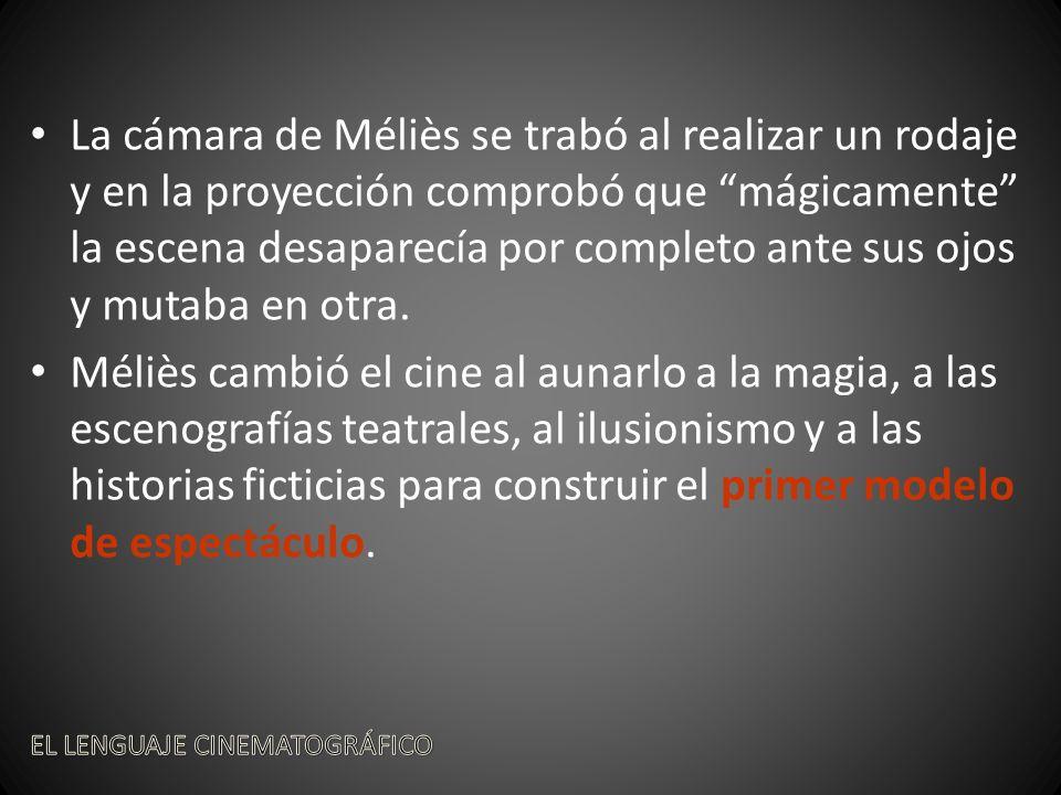 La cámara de Méliès se trabó al realizar un rodaje y en la proyección comprobó que mágicamente la escena desaparecía por completo ante sus ojos y mutaba en otra.