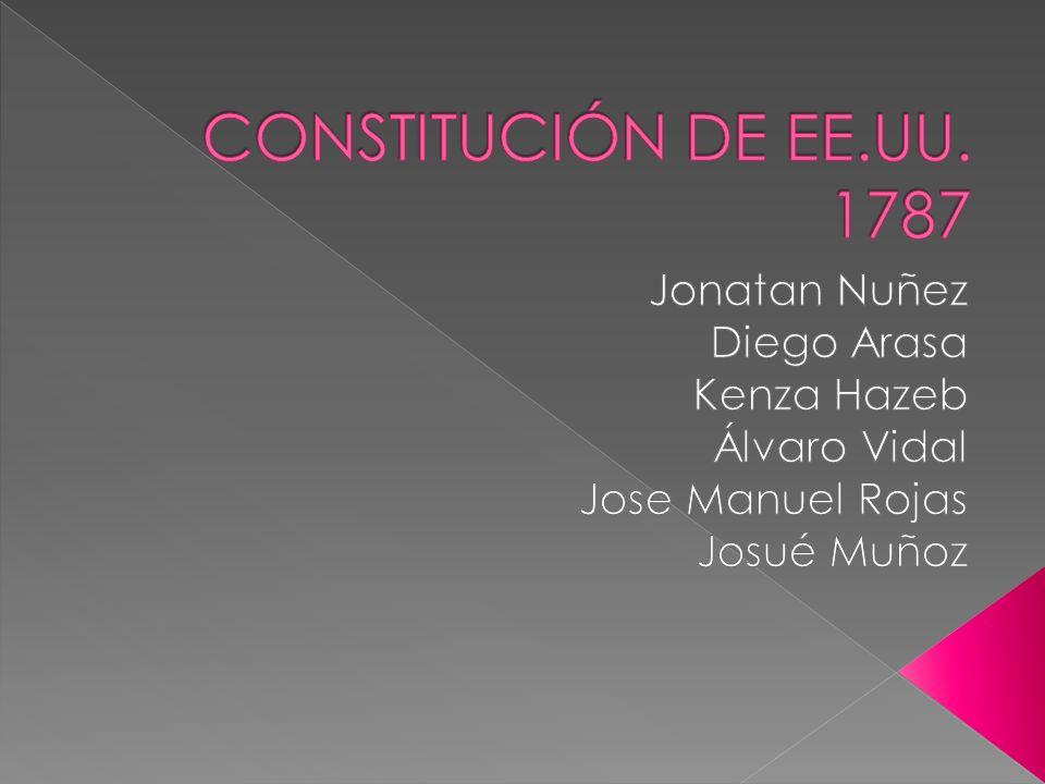 CONSTITUCIÓN DE EE.UU. 1787 Jonatan Nuñez Diego Arasa Kenza Hazeb