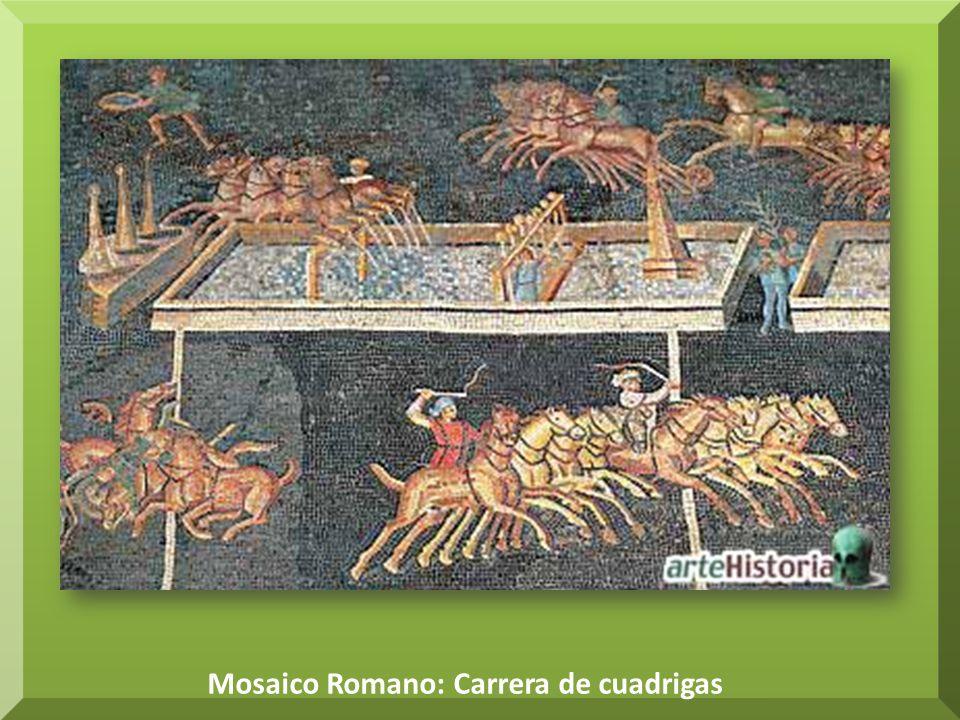 Mosaico Romano: Carrera de cuadrigas