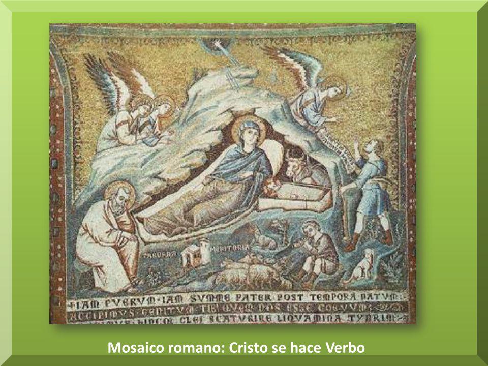Mosaico romano: Cristo se hace Verbo