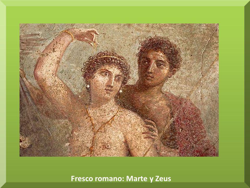 Fresco romano: Marte y Zeus