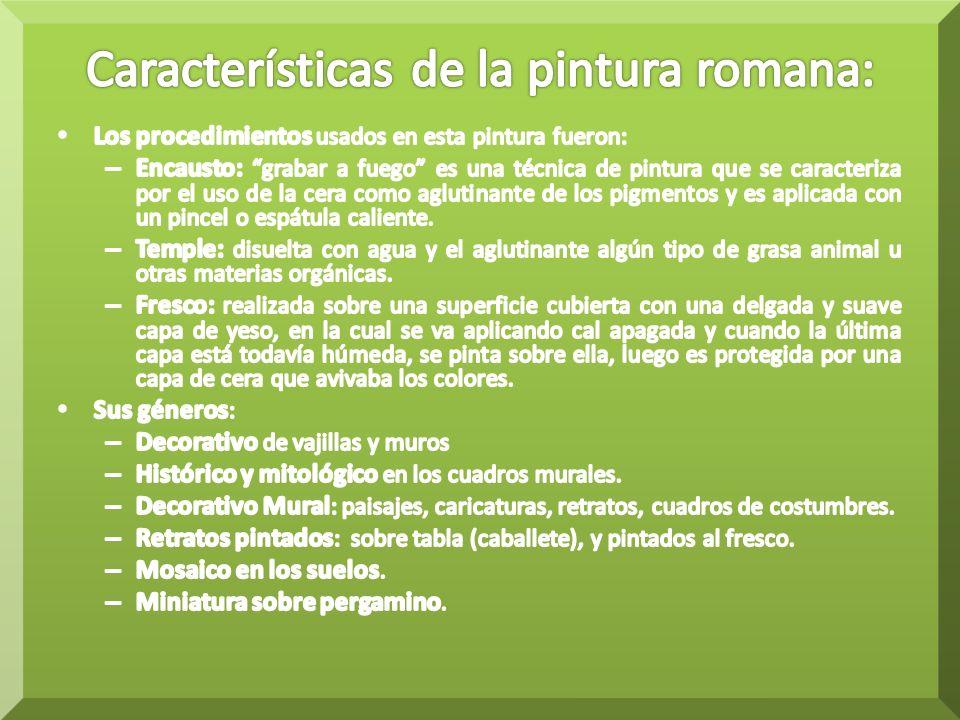 Características de la pintura romana: