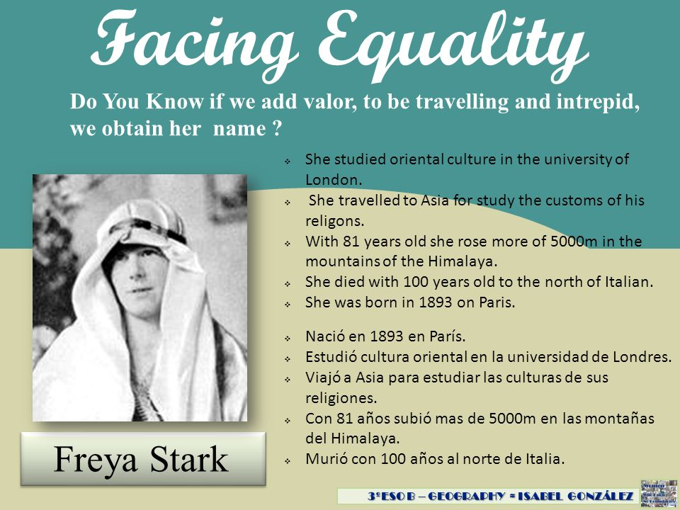Facing Equality Freya Stark
