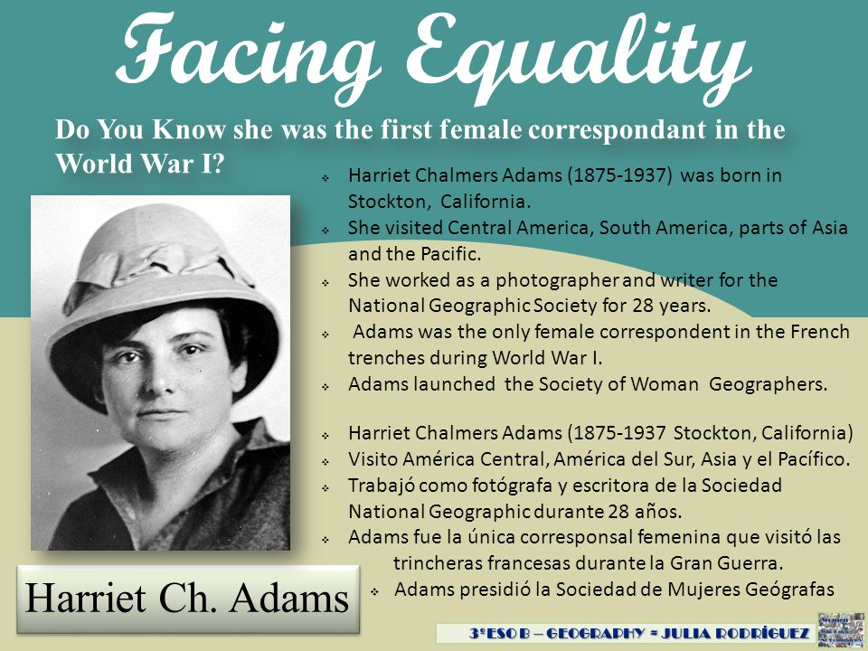 Facing Equality Harriet Ch. Adams