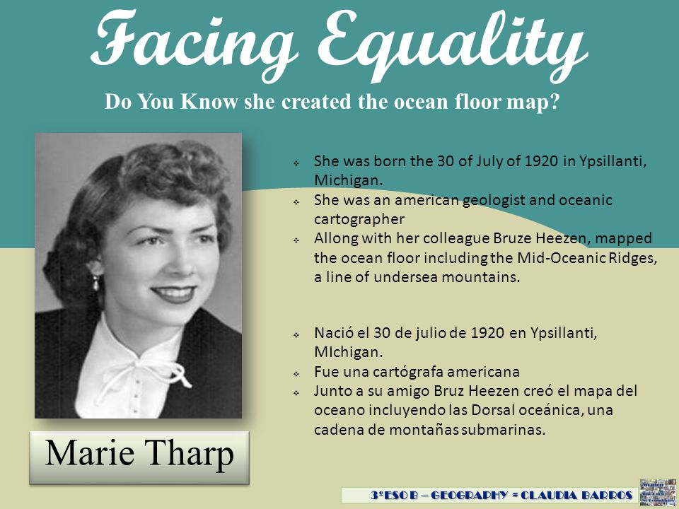 Facing Equality Marie Tharp