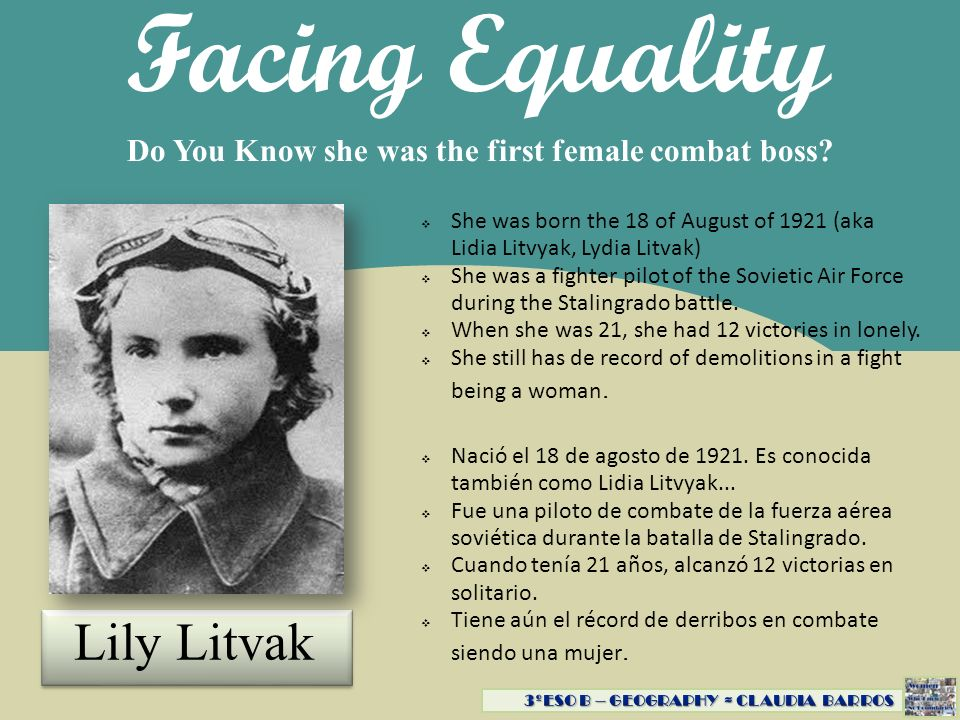 Facing Equality Lily Litvak