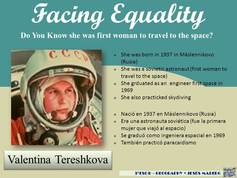 Facing Equality Valentina Tereshkova