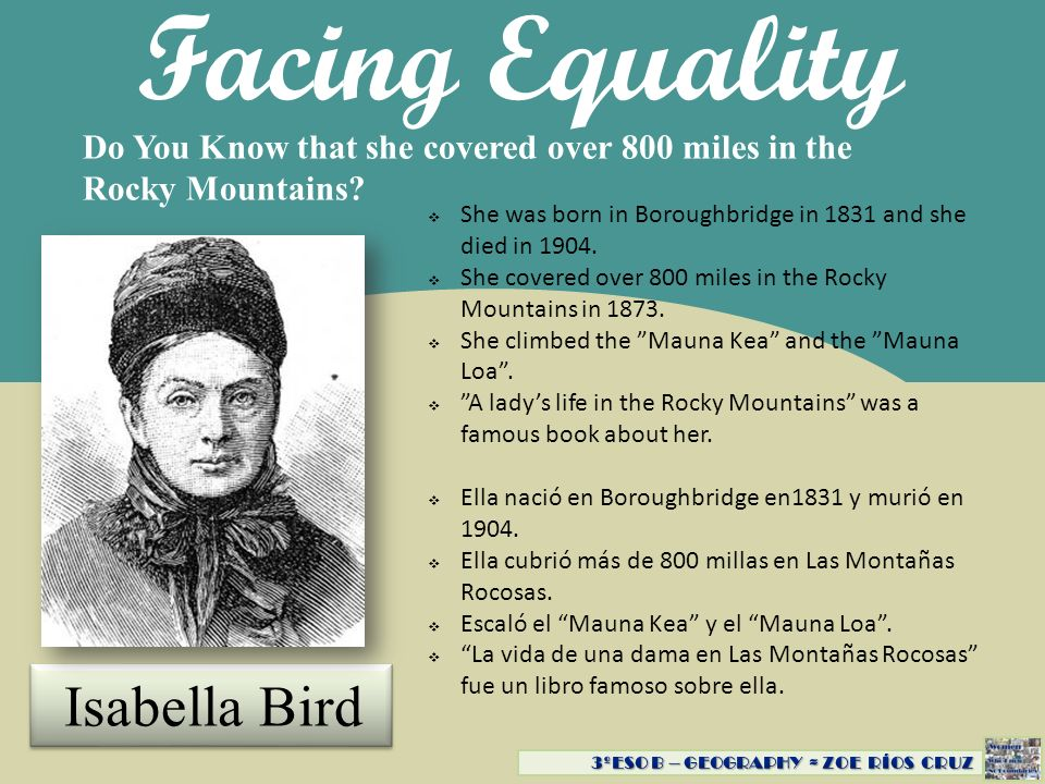 Facing Equality Isabella Bird