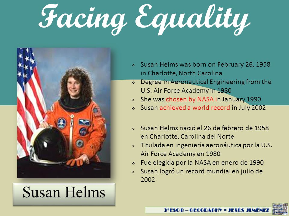 Facing Equality Susan Helms