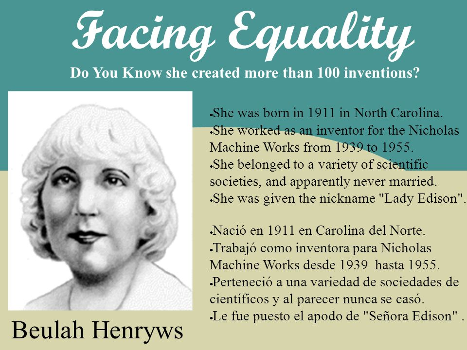 Facing Equality Beulah Henryws