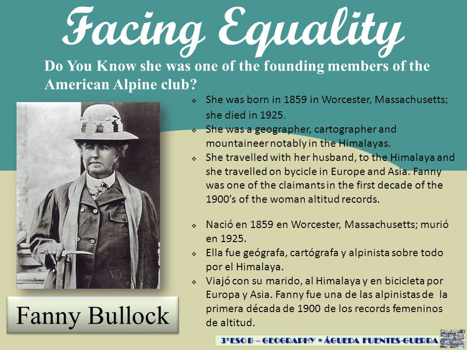 Facing Equality Fanny Bullock