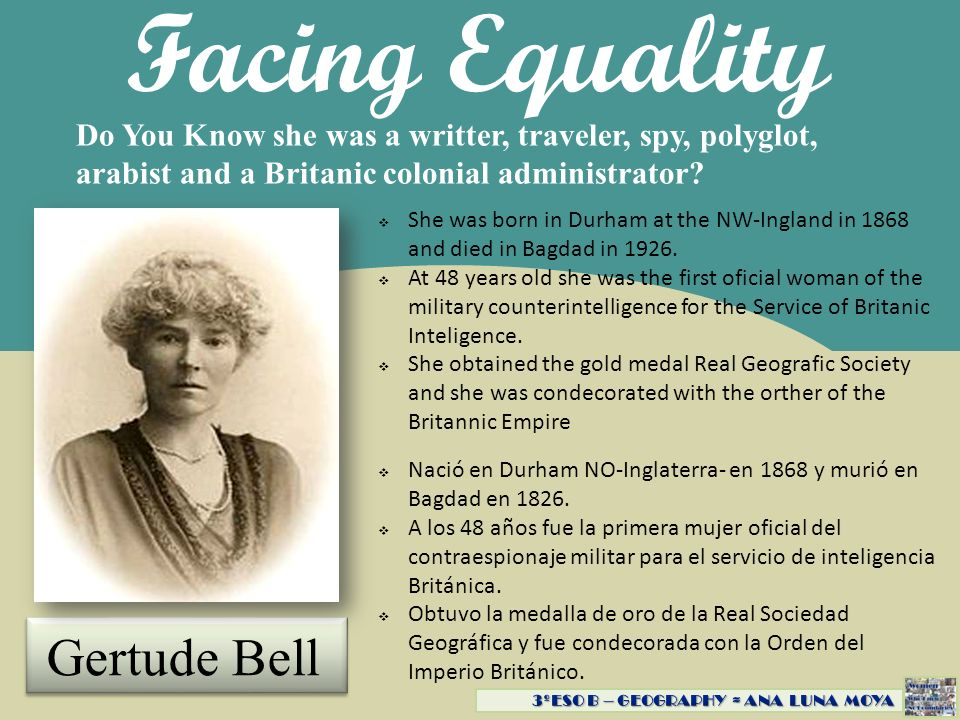 Facing Equality Gertude Bell