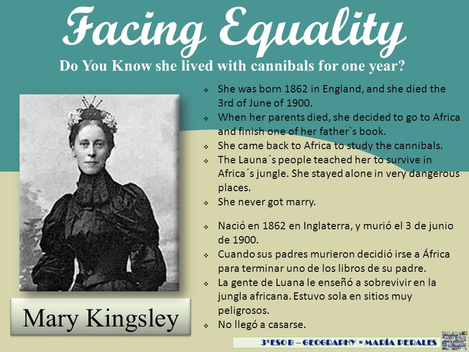 Facing Equality Mary Kingsley