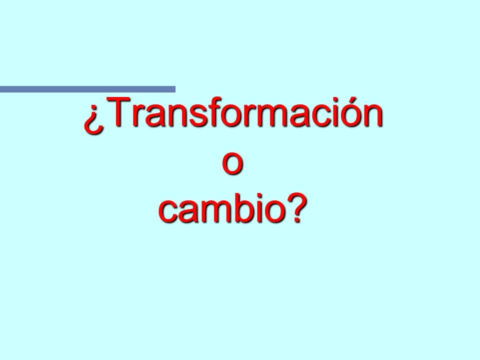 ¿Transformación o cambio
