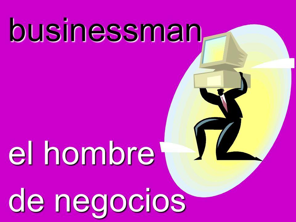 businessman el hombre de negocios