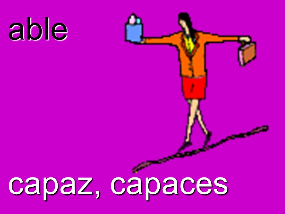 able capaz, capaces