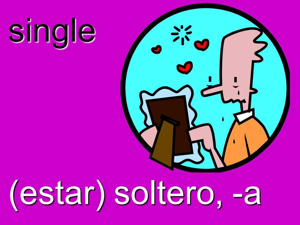 single (estar) soltero, -a