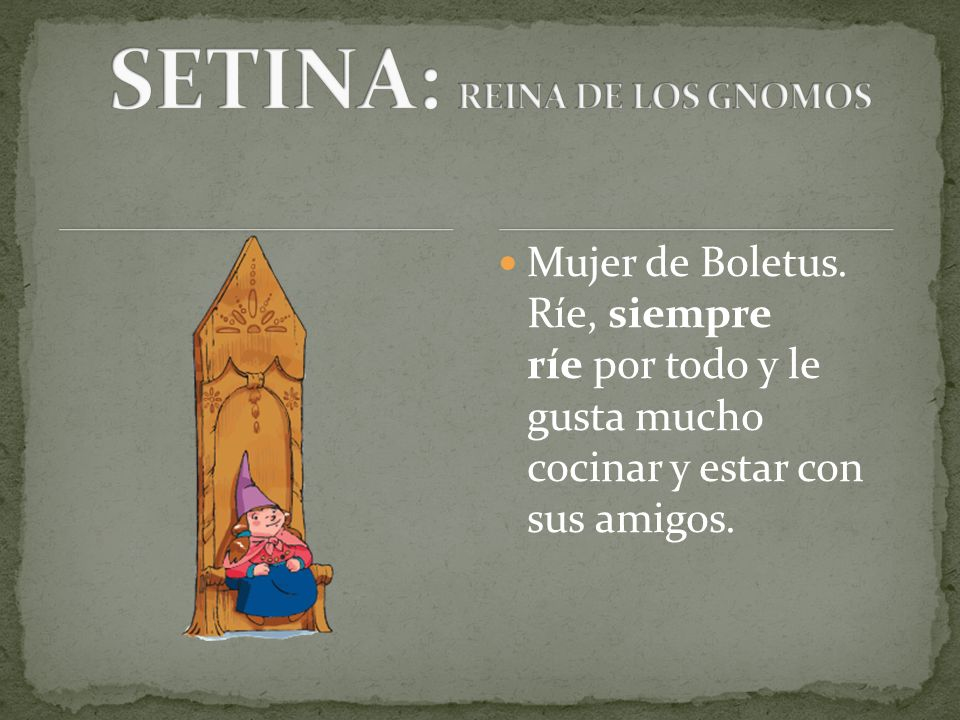 SETINA: REINA DE LOS GNOMOS
