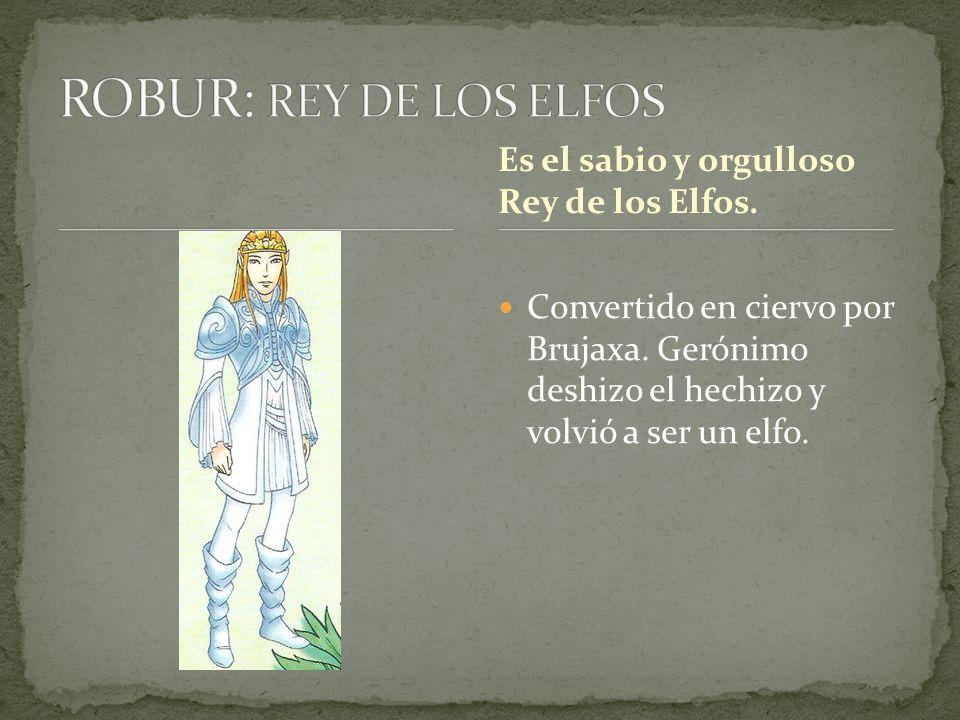ROBUR: REY DE LOS ELFOS Es el sabio y orgulloso Rey de los Elfos.