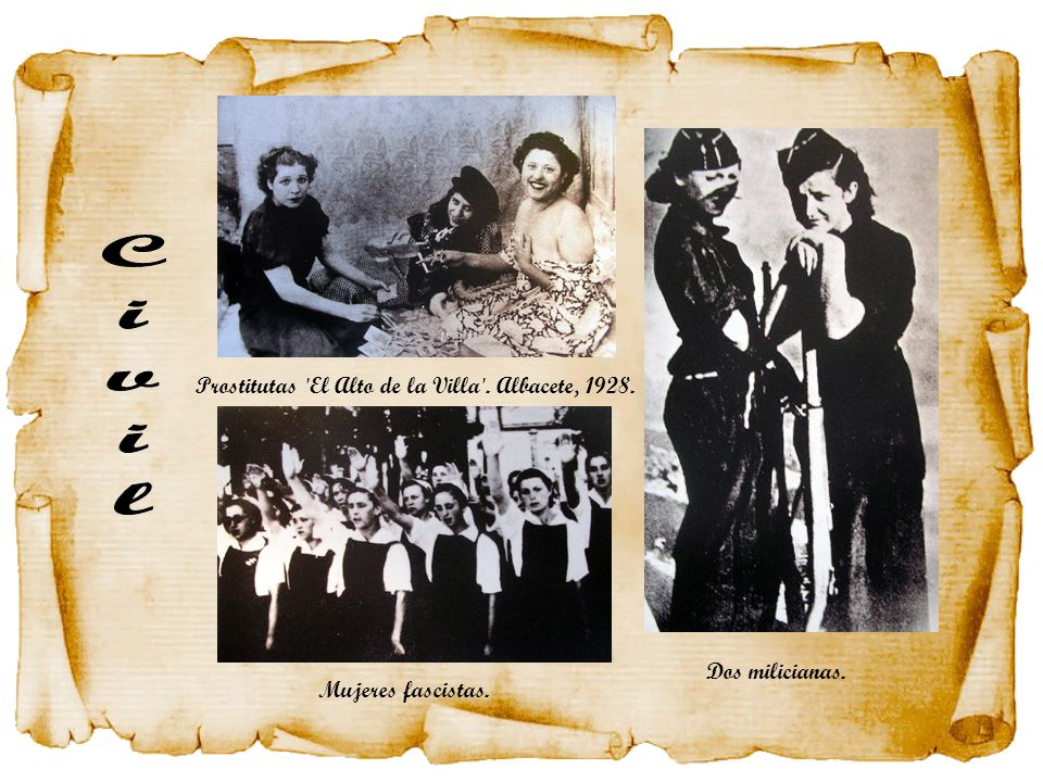 Civil Prostitutas El Alto de la Villa . Albacete, 1928.