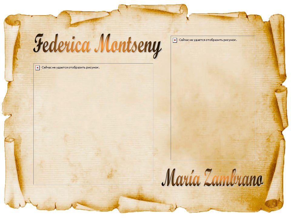 Federica Montseny María Zambrano