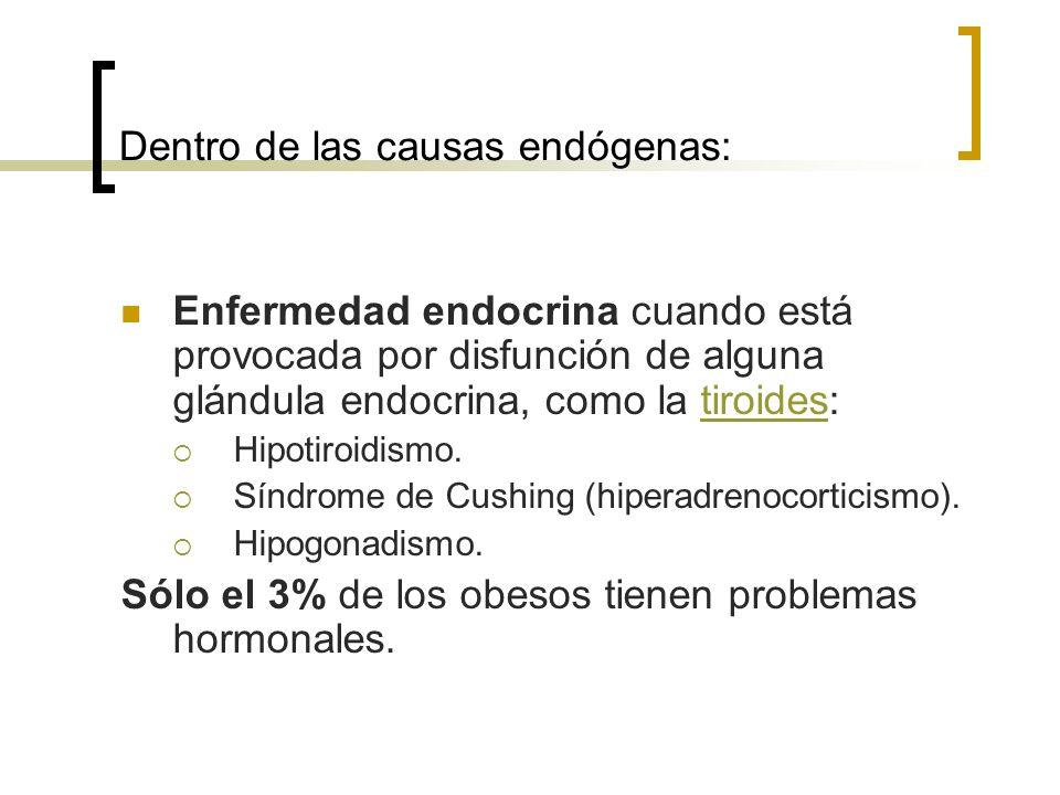 Dentro de las causas endógenas: