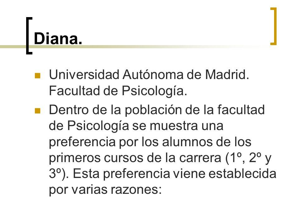 Diana. Universidad Autónoma de Madrid. Facultad de Psicología.