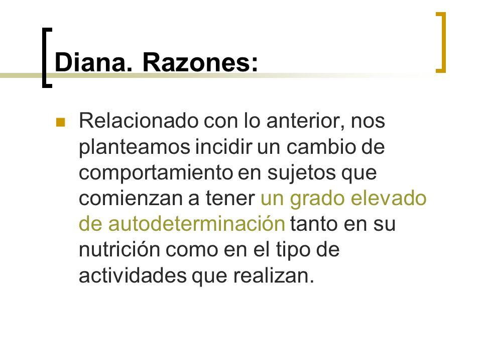 Diana. Razones:
