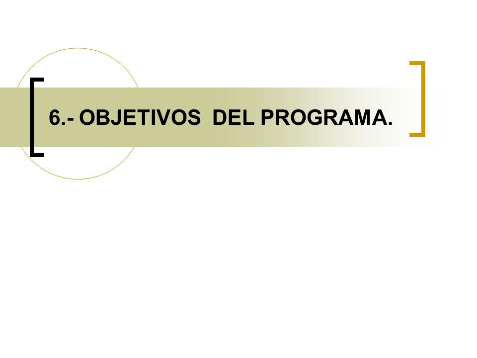 6.- OBJETIVOS DEL PROGRAMA.