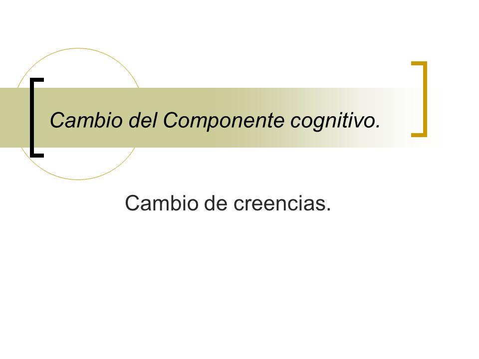 Cambio del Componente cognitivo.