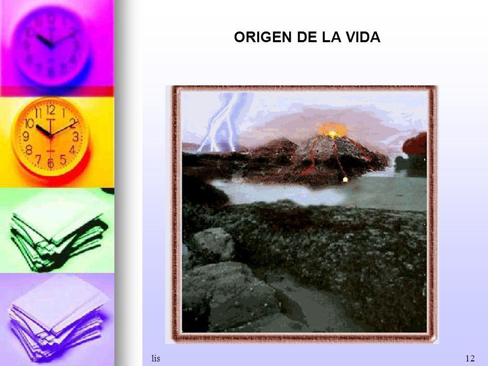 ORIGEN DE LA VIDA lis