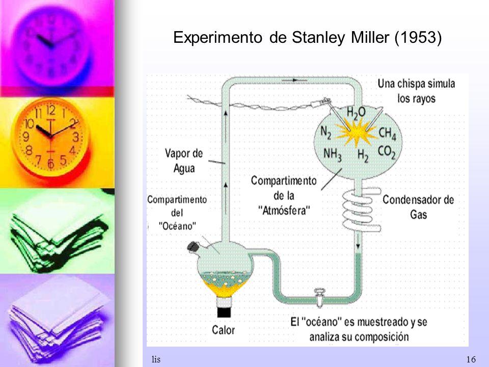 Experimento de Stanley Miller (1953)