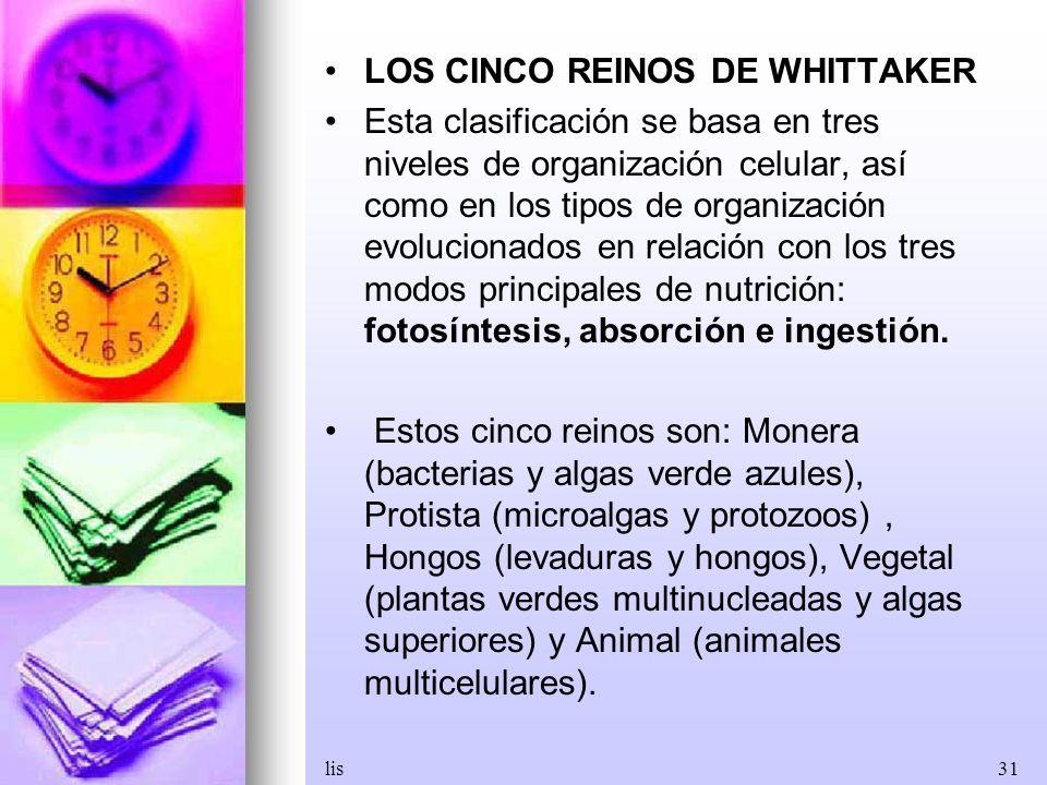 LOS CINCO REINOS DE WHITTAKER