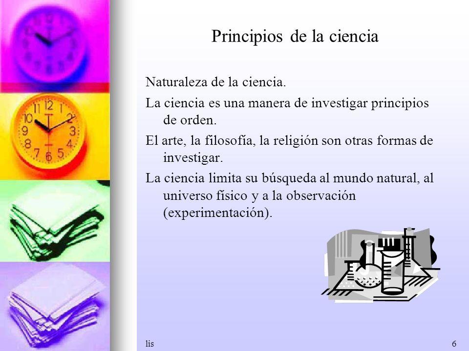 Principios de la ciencia