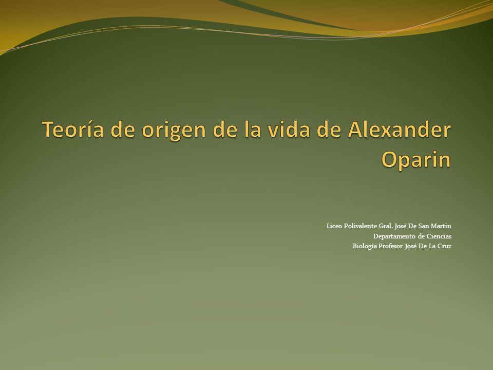 Teoría de origen de la vida de Alexander Oparin