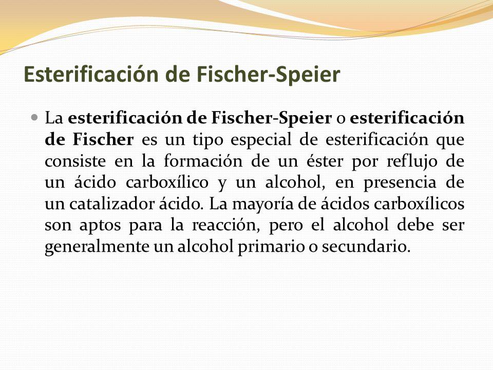 Esterificación de Fischer-Speier