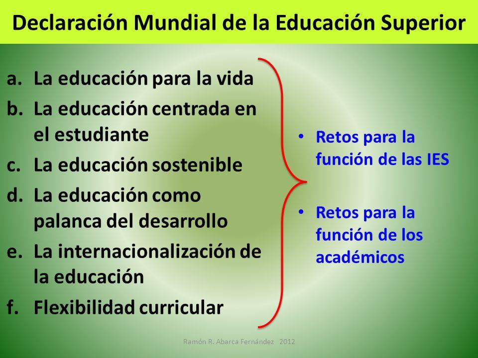 Declaración Mundial de la Educación Superior