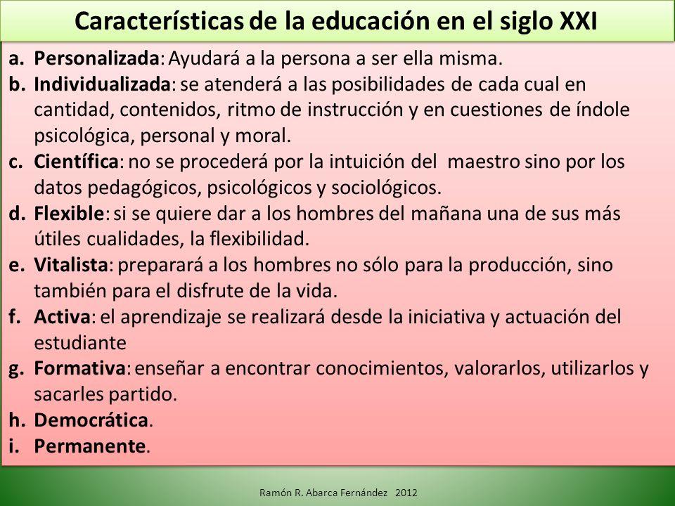 Características de la educación en el siglo XXI
