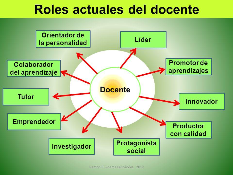 Roles actuales del docente