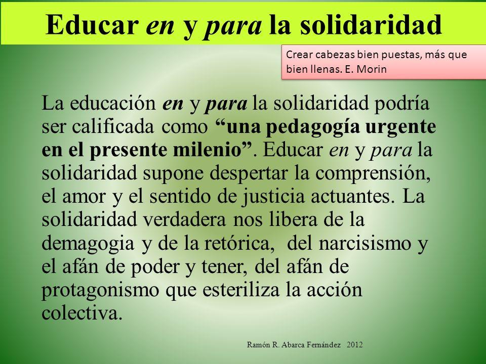 Educar en y para la solidaridad