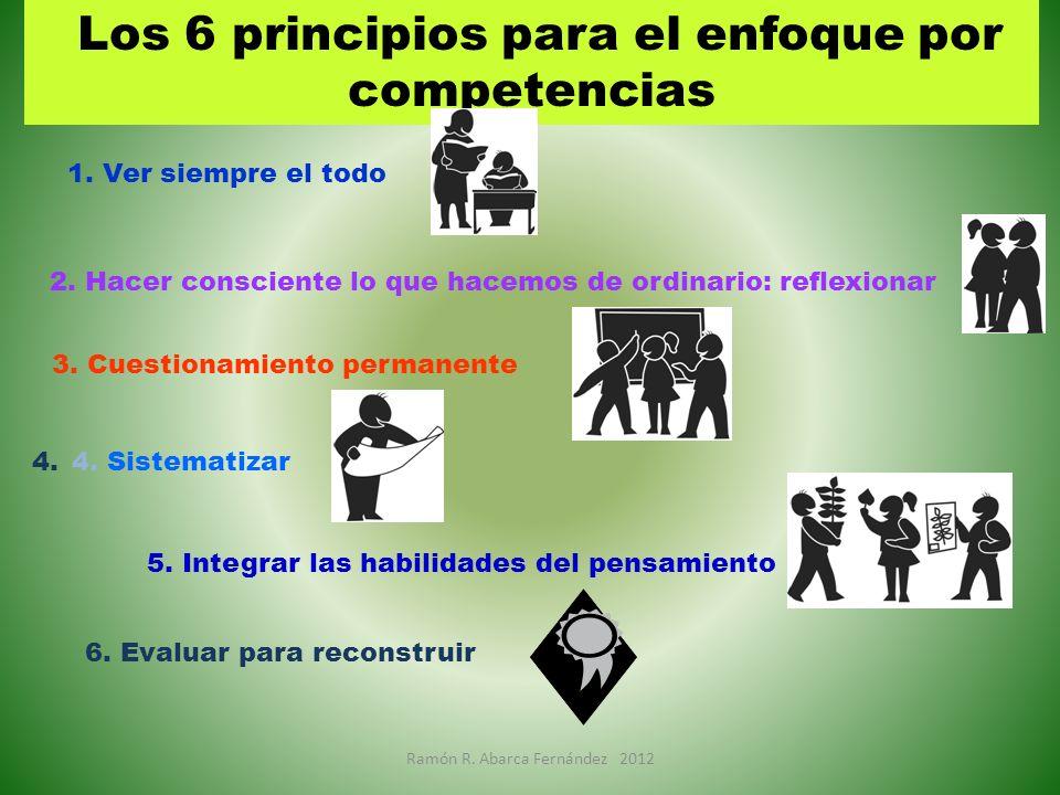 Los 6 principios para el enfoque por competencias
