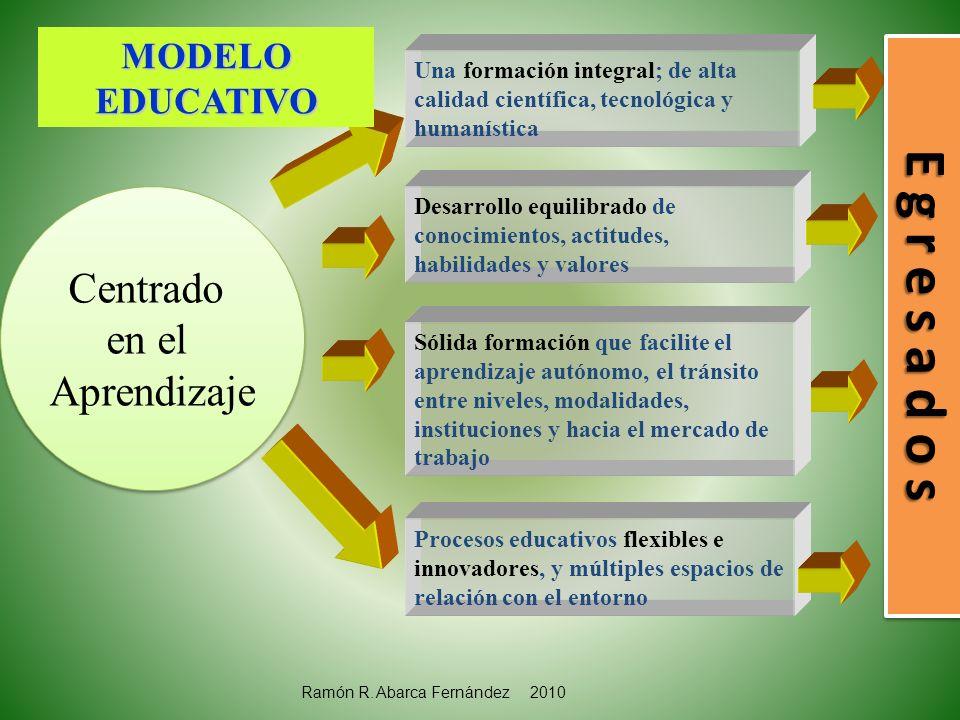 E g r e s a d o s Centrado en el Aprendizaje MODELO EDUCATIVO